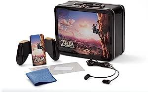 任天堂 Switch 官方*午餐盒套装 塞尔达: Breath of the Wild 设计 - 包括 Joy-Con 舒适握把、耳塞、清洁布