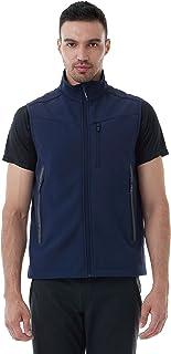 CNTRITON 男式轻质软壳高尔夫背心,羊毛内衬无袖夹克,防风保暖,适合旅行、跑步
