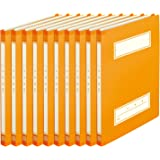 PLUS 普乐士 年级氏名学校文件夹 A4-S 10本 79-348×10 橙色