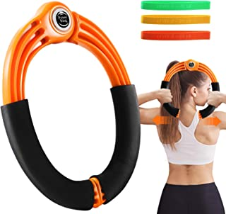 Aone Arm Power 锻炼环 带阻力带 手臂锻炼设备 适用于健身初学者 Power Twister 手臂胸腿锻炼器