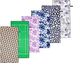 Ame & Lulu 运动毛巾 Game Set Match White ONE_SIZE SPTL114
