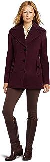 Calvin Klein 女士 单排扣羊毛大衣