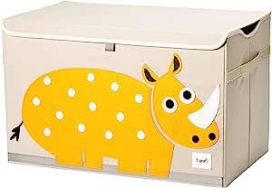3 Sprouts 儿童玩具箱 — 大号存放,适合男孩和女孩房 犀牛