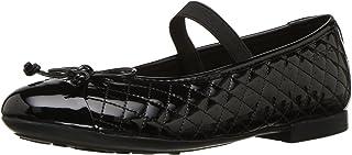 Geox 儿童 Plie 48 绗缝一脚蹬 芭蕾平底玛丽珍鞋