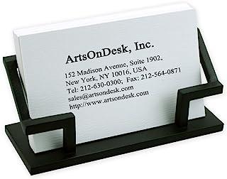 ArtsOnDesk 现代艺术名片夹 Bk301 钢黑色 书桌配件名片支架盒展示办公室收纳员圣诞节礼物假日情人节毕业礼物