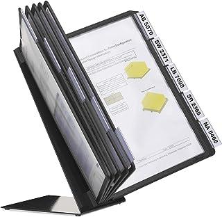 Durable 557001 桌面支架 Vario 表10(10个黑色视板 A4)黑色