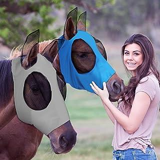 2 件马飞脸覆盖耳朵柔软面料马全脸覆盖长鼻子*,2 种颜色