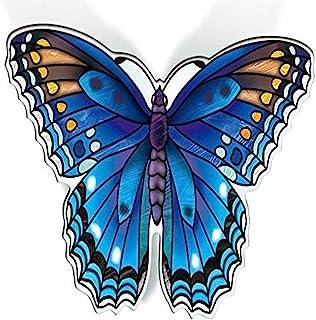 Amia,两件套红色紫色斑点蝴蝶,亚克力磁铁,多色