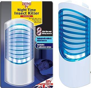 Zero In Night Time 杀虫器(防蚊,中虫和咬蝇),UV LED 灯可在家中有效控制,包括5张胶片)