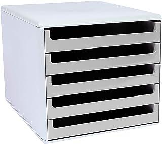 Metzger & Mendle 30050909BE 浅灰色抽屉盒,带5个浅灰色抽屉,回收,蓝色天使认证