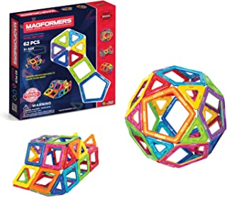 Magformers 麦格弗 基础套装(62片)磁性搭建积木 磁力片,STEM玩具
