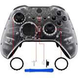 eXtremeRate 透明面板盖、前壳外壳替换套件适用于 Xbox One Elite 系列 2 控制器型号 1797…