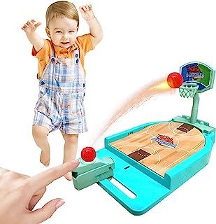 ANTS DREAM 篮球游戏玩具,篮球礼物,桌面运动游戏,桌面街机篮球游戏,室内篮球射击游戏带篮球场,儿童男孩和女孩的移动篮