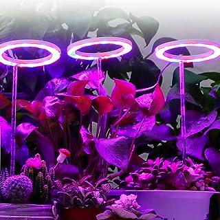 Ring LED 植物生长灯带计时器和支架,5 个灯光模式可以调整,促进发芽和提亮植物的颜色,适合室内盆栽多肉植物