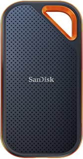 SanDisk 閃迪 Extreme PRO NVMe SSD 1 TB(便攜式NVMe SSD,USB-C,高達2000 MB/秒,堅固、防水,彈簧鉤)