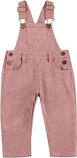 儿童幼童女婴男孩背带裤灯芯绒裤背带长裤带可调节肩带口袋