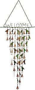 古老涂鸦蜂鸟欢迎闪耀迷人的钟形悬挂