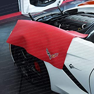 West Coast Corvette Corvette 挡泥板垫带 C7 Crossed Flags 标志 红色 27181256
