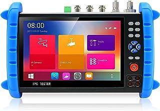 Rsrteng * 相机测试仪,IPCX-SACTHNRVOIM * 7 英寸 IPS 触摸屏显示器 * 测试仪,带高清电视 HD-CVI AHD SDI IP 摄像头支持 DMM OPM VFL TDR 功能 POE WiFi 4K H.26...