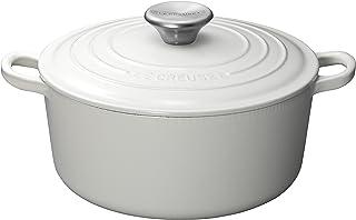 Le Creuset 珐琅铸铁法式圆锅,白色,4-1 / 2夸脱(约4.26升)