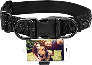 狗项圈支架适用于手机、宠物相机射击项圈、宠物项圈带手机支架可调节颈带