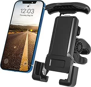 摩托车手机支架自行车手机支架手机支架适用于自行车运动公路自行车车把通用 360 可调节适用于 iPhone 12 11 xr Pro Max 所有手机
