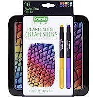 Crayola 绘儿乐 珠光奶油画笔盒,油蜡笔替代品,礼品套装,10件
