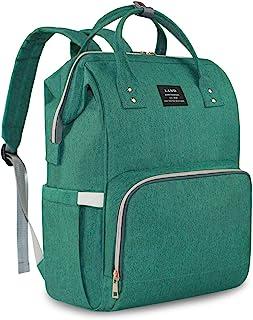 婴儿尿布袋 大容量 Mommy 背包 婴儿尿布袋 手提袋 多功能旅行背包 适用于妈妈 旅行 *学生 绿色