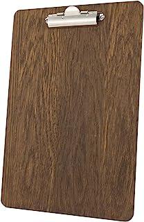 Chalkboards UK Clipboard Finish, Wood, Dark Oak, 33.6 x 24 x 1.6 cm