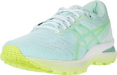 ASICS 亚瑟士 女士 Gel-Nimbus 22 跑鞋 8M 薄荷色/* 黄色