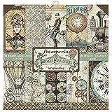 Stamperia International KFT 纸垫 10 张双面旅行幻想,多色,30.48 x 30.5 (3…