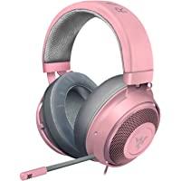 Razer 雷蛇 Kraken 游戏耳机 2019 - [石英粉]: 轻质铝制框架 - 可伸缩降噪麦克风 - 适用于PC…
