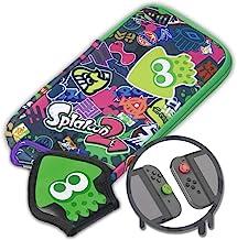 Hori Splatoon 2 Nintendo Switch游戏机套 泼溅贴图