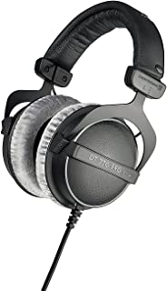 beyerdynamic 拜亚动力 DT 770 PRO 80 Ohm 黑色录音室耳机,封闭式设计,有线,可进行专业记录和监控
