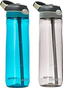 Contigo 自动喷水 Ashland 水瓶 Smoke & Scuba 2-Pack 2 件装