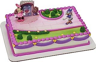 Decopac 米妮老鼠快乐助手装饰套装蛋糕装饰粉色,8.1 厘米 x 4.1 厘米