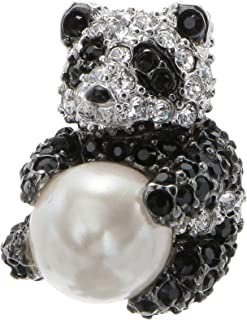 VENDOME BOUTIQUE 熊猫 施华洛世奇 SWAROVSKI 水晶 玻璃 胸针 VBMV7574 XD