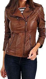 女式 Valentino 真皮夹克 复古风格 - 经典骑行小羊皮夹克 红色