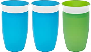 Munchkin Miracle 360 Degree 10 Ounce Spoutless Cup, 3 Pack Blue/Blue/Green