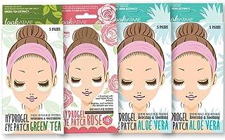 黑眼圈和浮肿眼罩 - 韩国皮肤护理芦荟玫瑰绿茶水凝胶眼罩(20 双)- 眼罩 - 咖啡因眼罩 - 蓬松*贴 - 凝胶眼垫