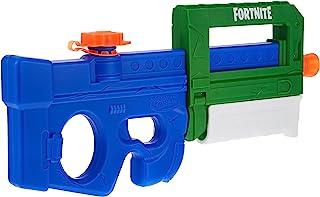 Nerf Super Soaker Fortnite Compact SMG 喷水枪 – 泵动式水吸水 – 适合青少年、青少年和成人