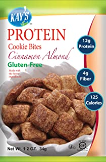 Kay's Naturals Protein Cookie Bites, Cinnamon Almond, Gluten-Free, 1.2 Ounce (Pack of 60)