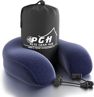 PGH 旅行颈枕*泡沫 - 蓝色枕套 *蓝 12Lx11.5Wx4.7H PGH-NP107A-1612