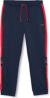 BOSS 男士 Halvo 慢跑裤,双面针织,带标志细节