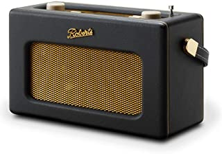 Roberts Radios REV-ISTREAM3 复古 DAB / DAB + FM 无线便携式数字蓝牙收音机 Alexa 语音控制智能扬声器 Revival iStream 3 - 黑色