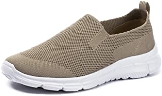 FRANK MULLY 男式一脚蹬步行鞋轻便休闲针织一脚蹬运动鞋轻便时尚运动鞋