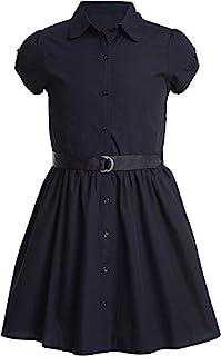 Nautica 诺帝卡 女童校服短袖衬衫裙