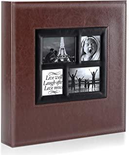 Ywlake 相册 4x6 500 个口袋照片,超大容量家庭婚礼照片相册可容纳 500 张水平和垂直照片棕色