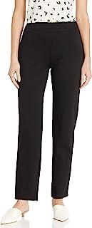 SLIM-SATION 女式人造斜口袋松紧腰厚实裤