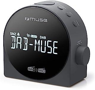 Muse M-185CDB schw. 时钟收音机 DAB+DUAL 闹钟